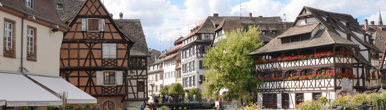 Petit France Neighborhood of Downtown Strasbourg