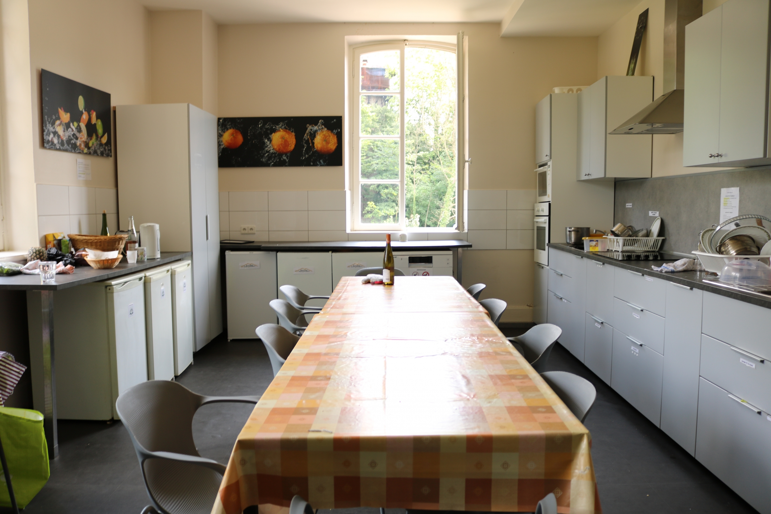 Student Kitchen at the European Study Center Chateau de Pourtales, Strasbourg France